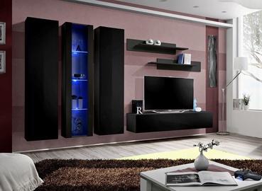 Dzīvojamās istabas mēbeļu komplekts ASM Fly C4 Black