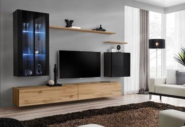 Dzīvojamās istabas mēbeļu komplekts ASM Switch XII, melna