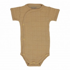 Lodger Romper Solid Body With Short Sleeves Honey 74cm