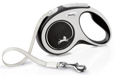 Поводок Flexi New Comfort, белый/черный, 5 м