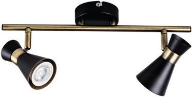 Kanlux Mileno EL-2I B-AG Ceiling Lamp Black/Gold 2x35W GU10