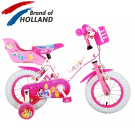 Детский велосипед Volare Disney Princess Doll Seat, белый/розовый, 12″
