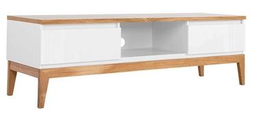 ТВ стол Black Red White Kioto White/Oak, 1450x460x455 мм