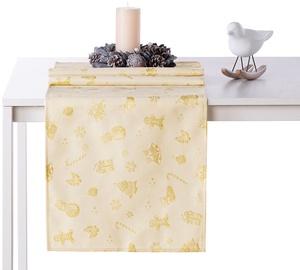 AmeliaHome Christmas Story AH/HMD Tablecloth Gold 40x120cm