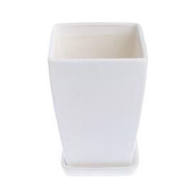 SN Square Ceramic Pot Ø22cm White