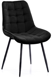 Ēdamistabas krēsls Homede Algate, melna, 4 gab.