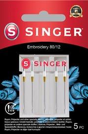 Singer Embroidery Needle 80/12 5pcs
