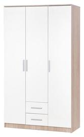 Skapis Halmar Lima S-3 Sonoma Oak/White, 120x52x205 cm