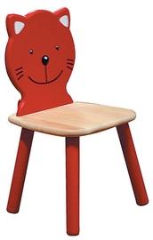 MN Children Chair Cat Red/Beige
