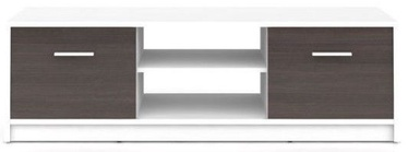 ТВ стол Black Red White Nepo Plus, коричневый/белый, 1385x465x425 мм