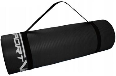 SportVida Exercise Mat 180x60x1cm Black