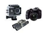 Foto, sporta kameras, binokļi