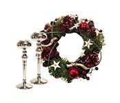 Рождественские венки и подсвечники