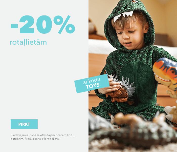 -20% rotaļlietām ar kodu TOYS