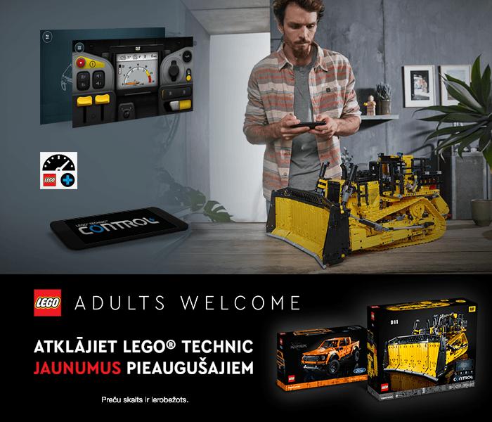 LEGO ADULTS WELCOME ATKLĀJIET LEGO® TECHNIC JAUNUMUS PIEAUGUŠAJIEM