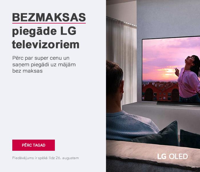 Bezmaksas piegāde LG televizoriem! Pērc par super cenu un saņem piegādi uz mājām bez maksas