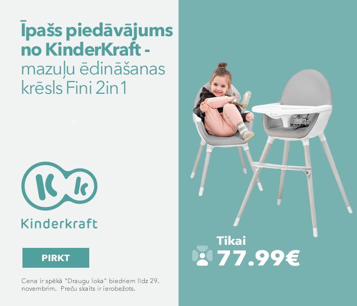 Īpašs piedāvājums no KinderKraft - mazuļu ēdināšanas krēsls Fini 2in1