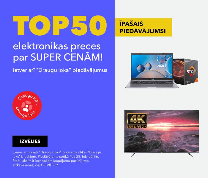 ĪPAŠAIS PIEDĀVĀJUMS! TOP50 elektronikas preces par super cenām!