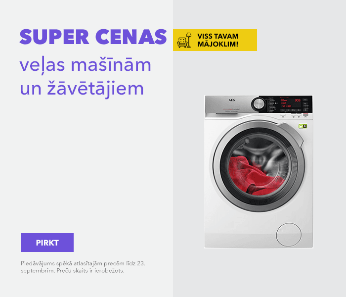 Viss Tavam mājoklim! SUPER cenas veļas mašīnām un žāvētājiem