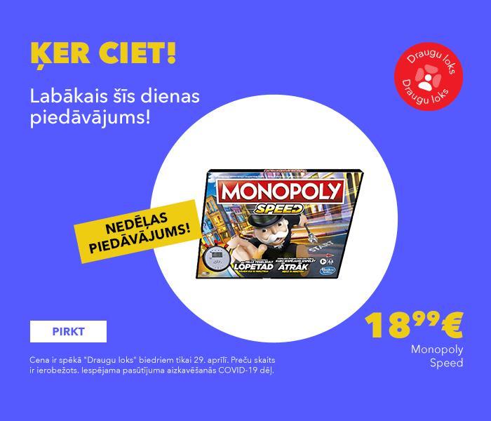 Monopoly Speed tikai 18.99 €
