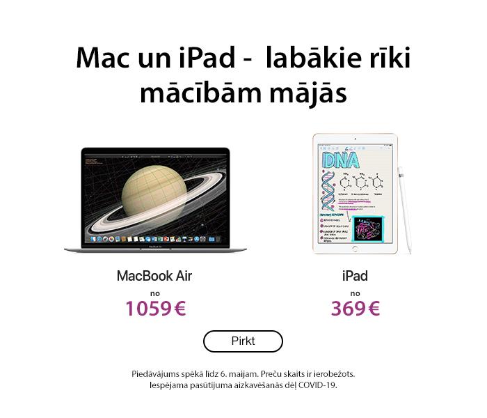 Mac un iPad -  labākie rīki mācībām mājās!
