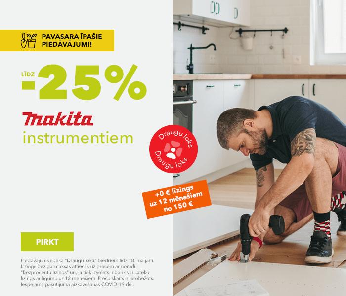 Pavasara īpašie piedāvājumi! līdz -25% Makita instrumentiem