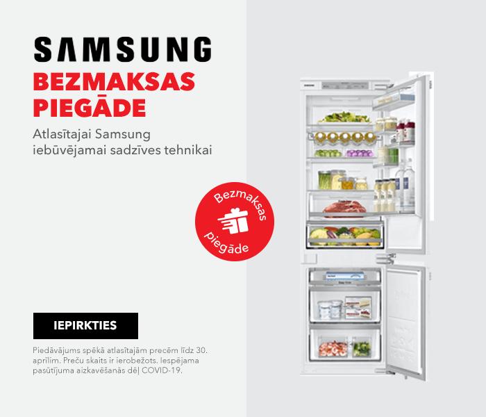 Bezmaksas piegāde atlasītajai Samsung iebūvējamai sadzīves tehnikai