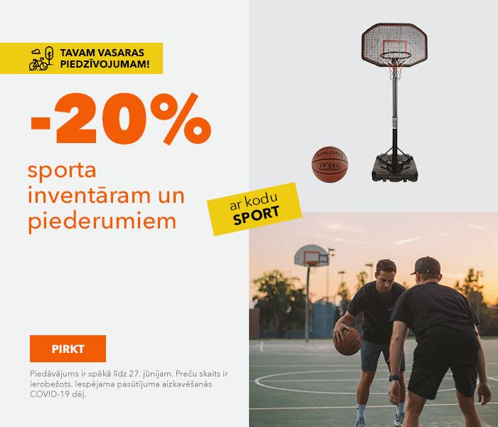 Super piedāvājumi vasarai! -20% sporta inventāram un piederumiem ar kodu: SPORT