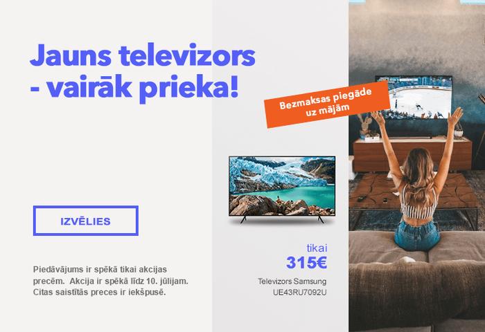 Jauns televizors - vairāk prieka