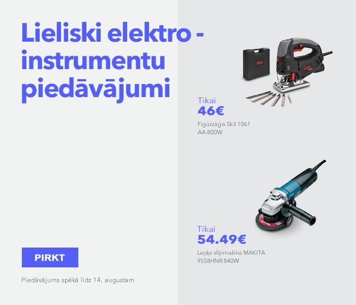 Lieliski elektroinstrumentu piedāvājumi