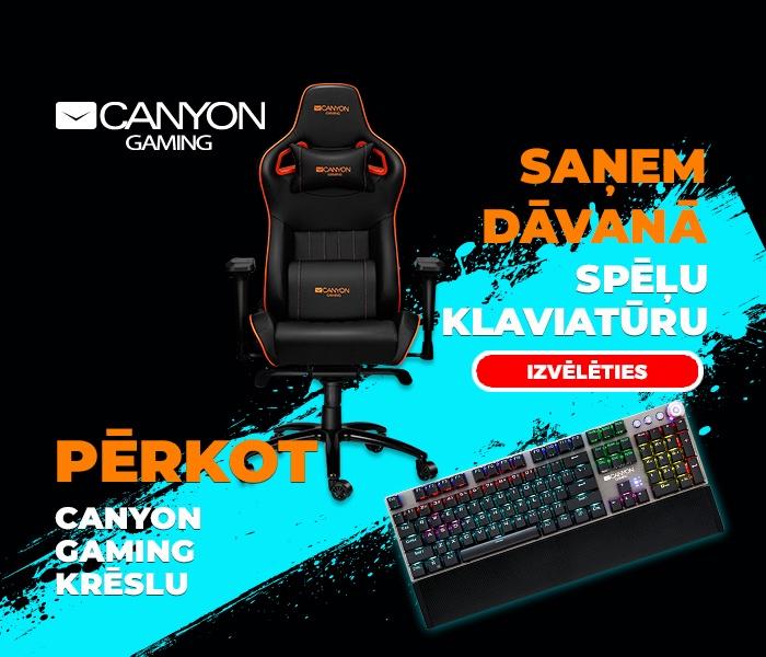 Saņem dāvanu, pērkot Canyon gaming krēslu