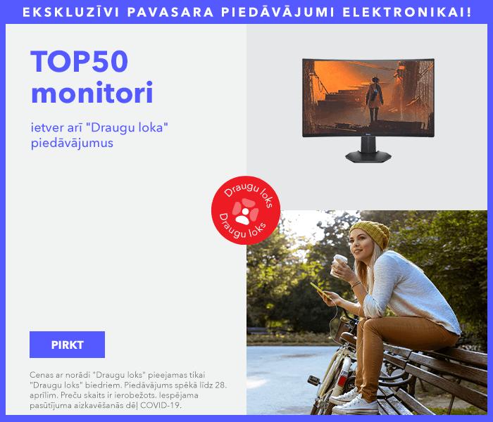 Ekskluzīvi pavasara piedāvājumi elektronikai! TOP50 monitori