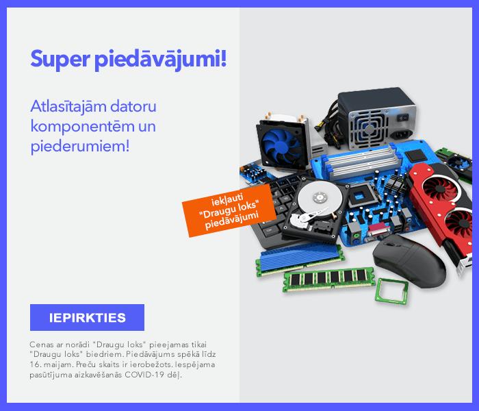 SUPER piedāvājumi atlasītajām datoru komponentēm un piederumiem!