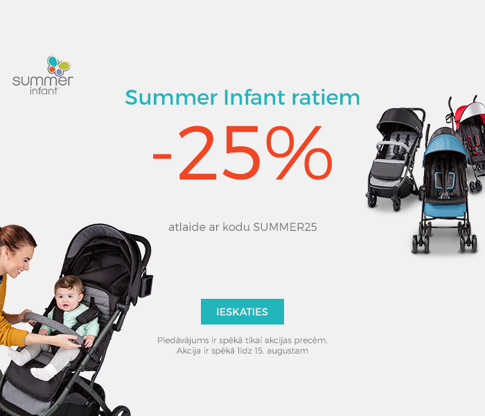 Summer Infant ratiem -25% atlaide ar kodu SUMMER25