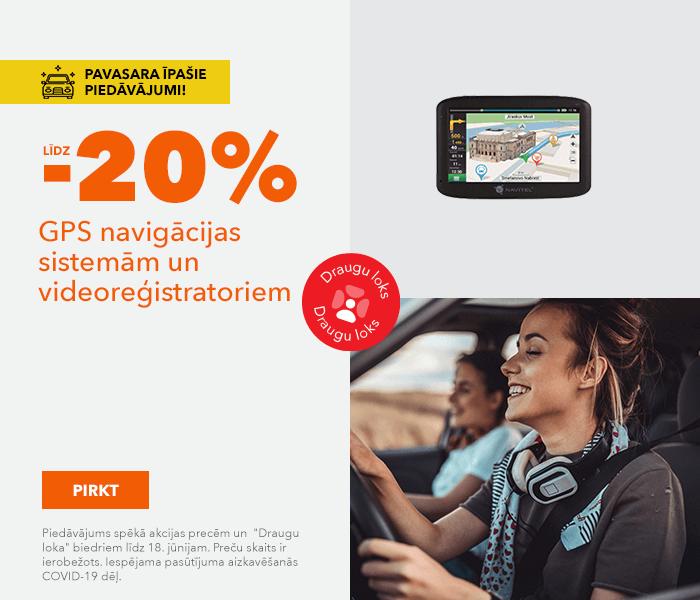 Pavasara īpašie piedāvājumi! līdz -20% GPS navigācijas sistemām un videoreģistratoriem