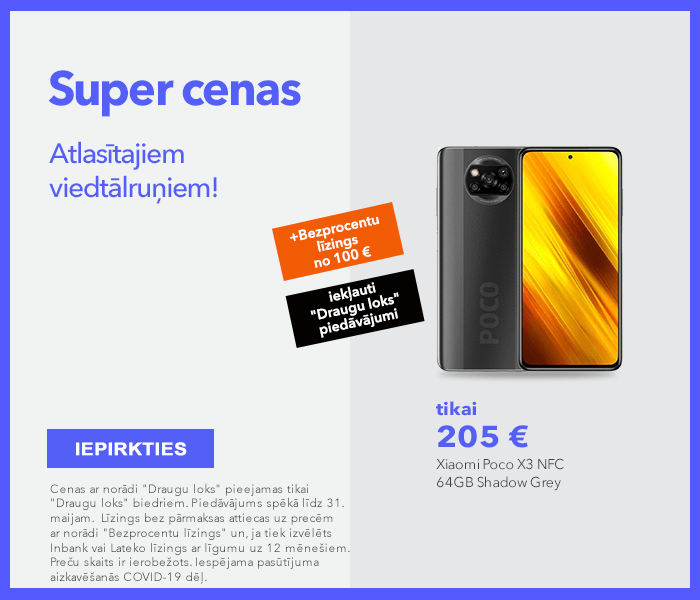 Super cenas atlasītajiem viedtālruņiem! Maksā pa daļām!