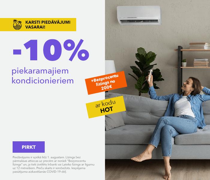 Karsti piedāvājumi vasarai! -10% piekaramajiem kondicionieriem ar kodu