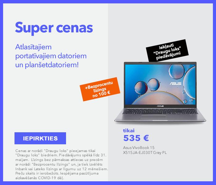 Super cenas atlasītajiem portatīvajiem datoriem un planšetdatoriem! Maksā pa daļām!