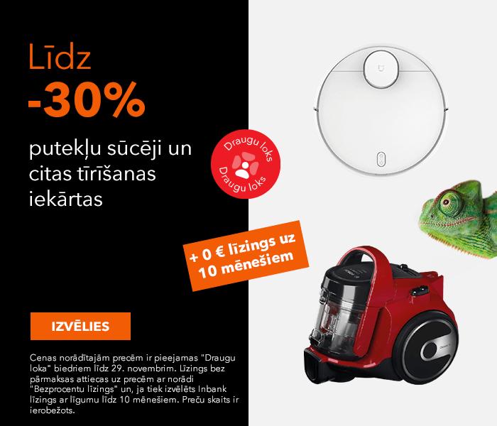 Putekļu sūcēji un citas tīrīšanas iekārtas līdz -30%